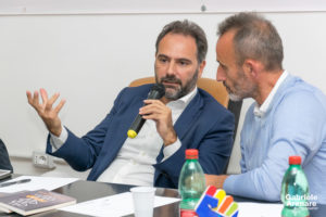 """Catello Maresca e Paolo Chiariello alla presentazione """"Senso di Marcia"""" - Photo credit Gabriele Arenare"""