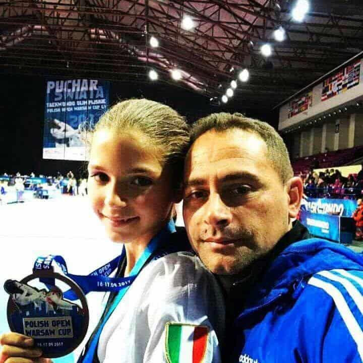 Anna Cuorvo insieme al Maestro Mario De Rosa della Polisportiva di Pozzuoli.