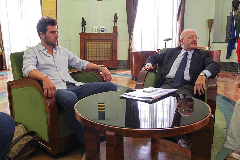 Vincenzo De Luca e Fabio Corsaro