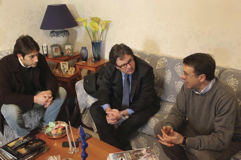 da sx: Domenico Ciccarelli, Angelo Morlando e Raffaele Cantone
