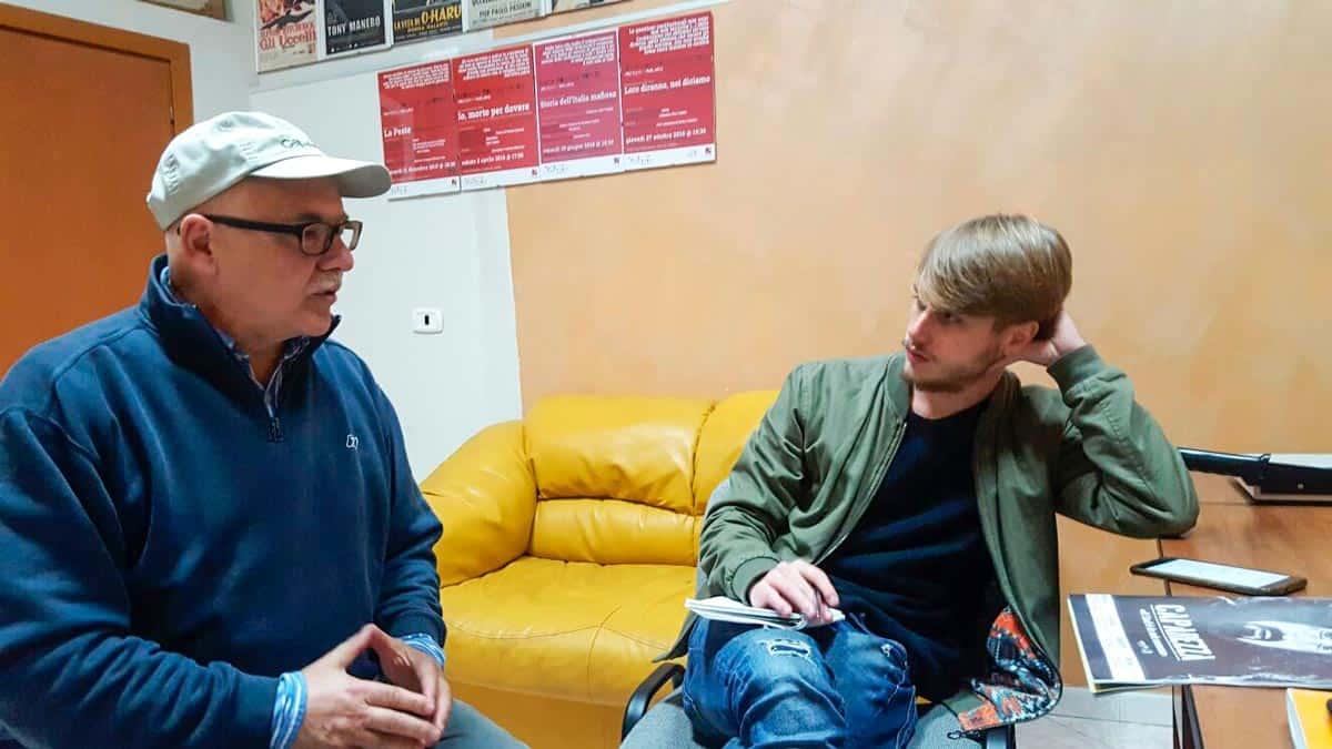 Vincenzo Tosti durante l'intervista di Antonio Casaccio