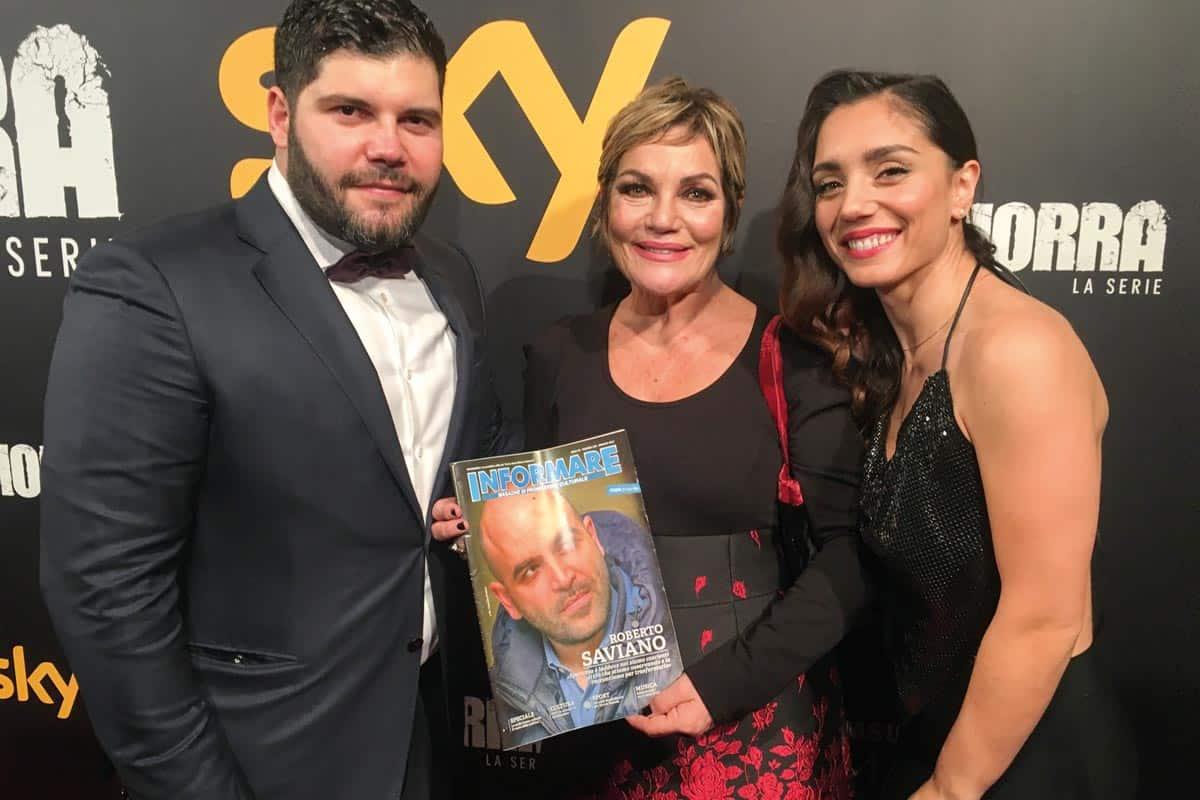 Salvatore Esposito, Cristina Donadio e Cristiana Dell'Anna