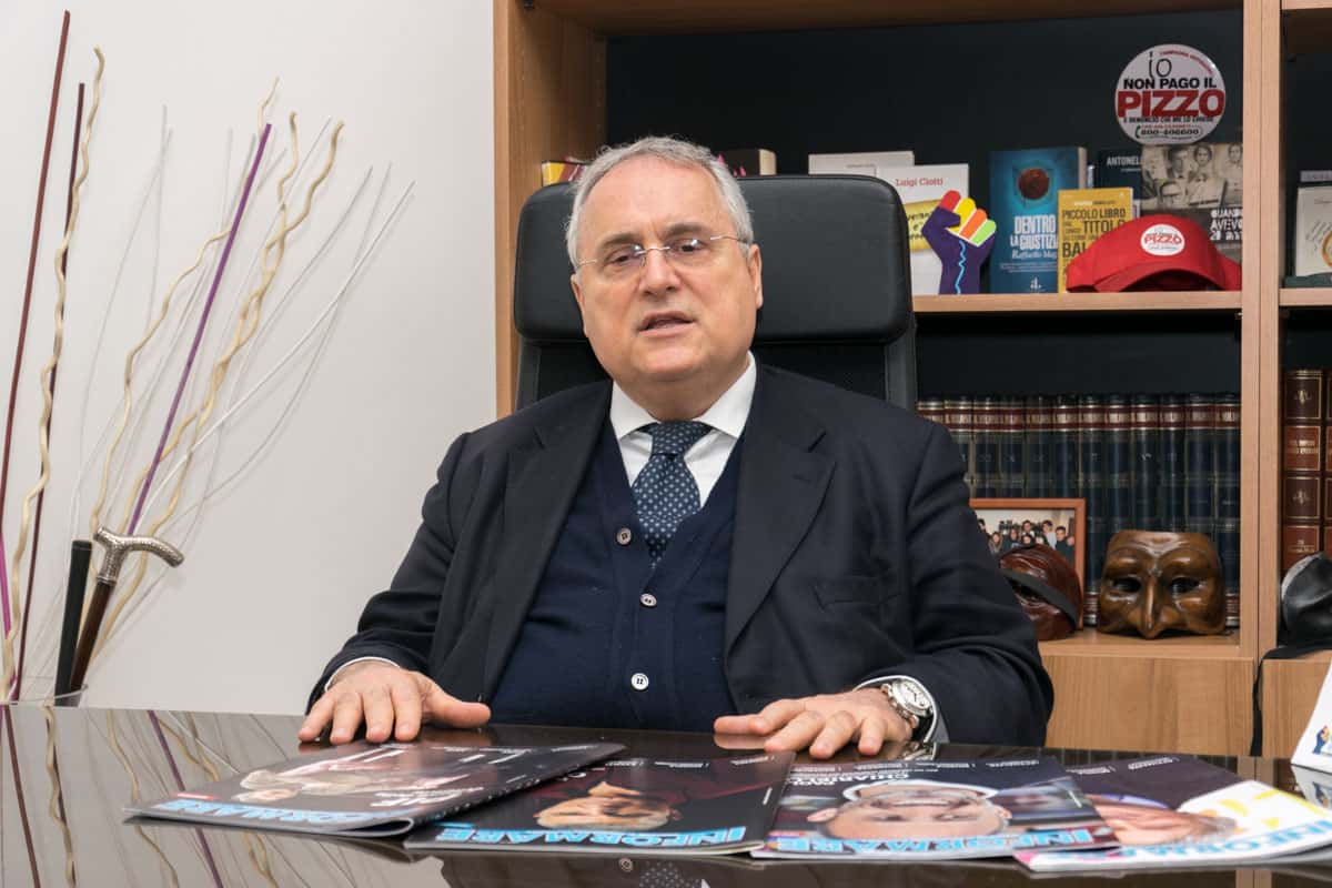 Claudio Lotito - Photo credit Gabriele Arenare