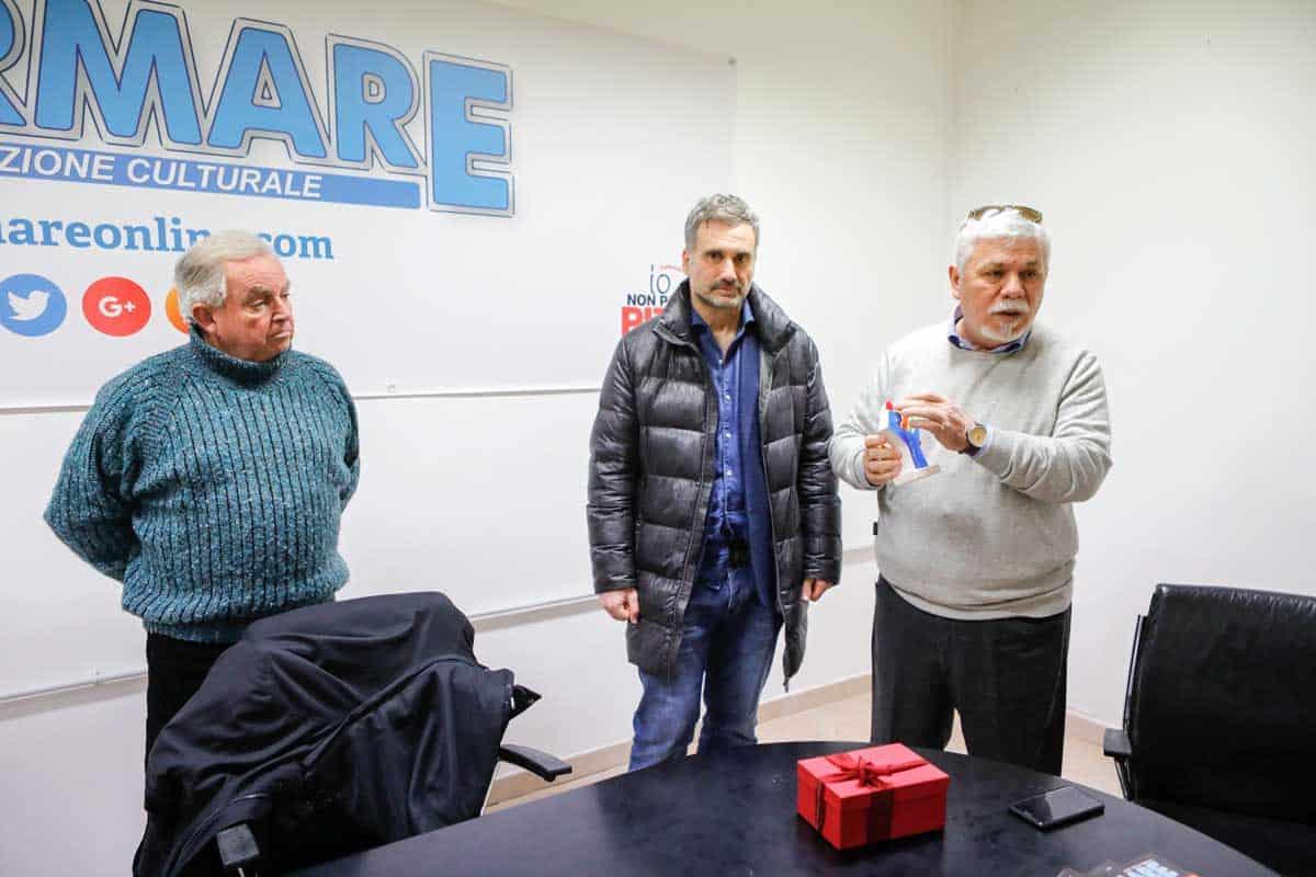 Incontro Liceo Quercia con Informare con il prof. Ortolani con il prof. Brancacci - Photo credit Carmine Colurcio