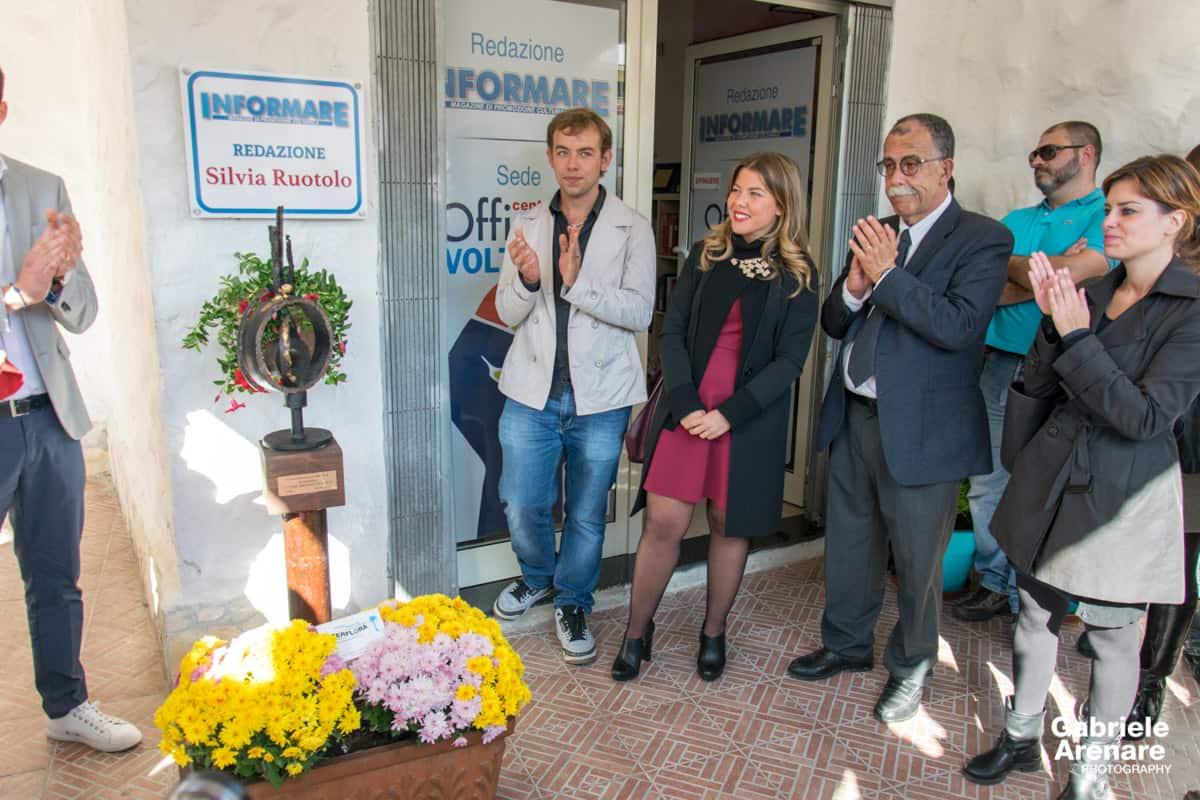 Intitolazione della Redazione di Informare a Silvia Ruotolo - Photo credit Gabriele Arenare