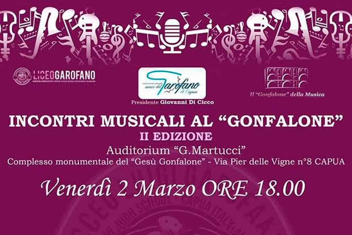 RASSEGNA INCONTRI MUSICALI AL LICEO GONFALONE