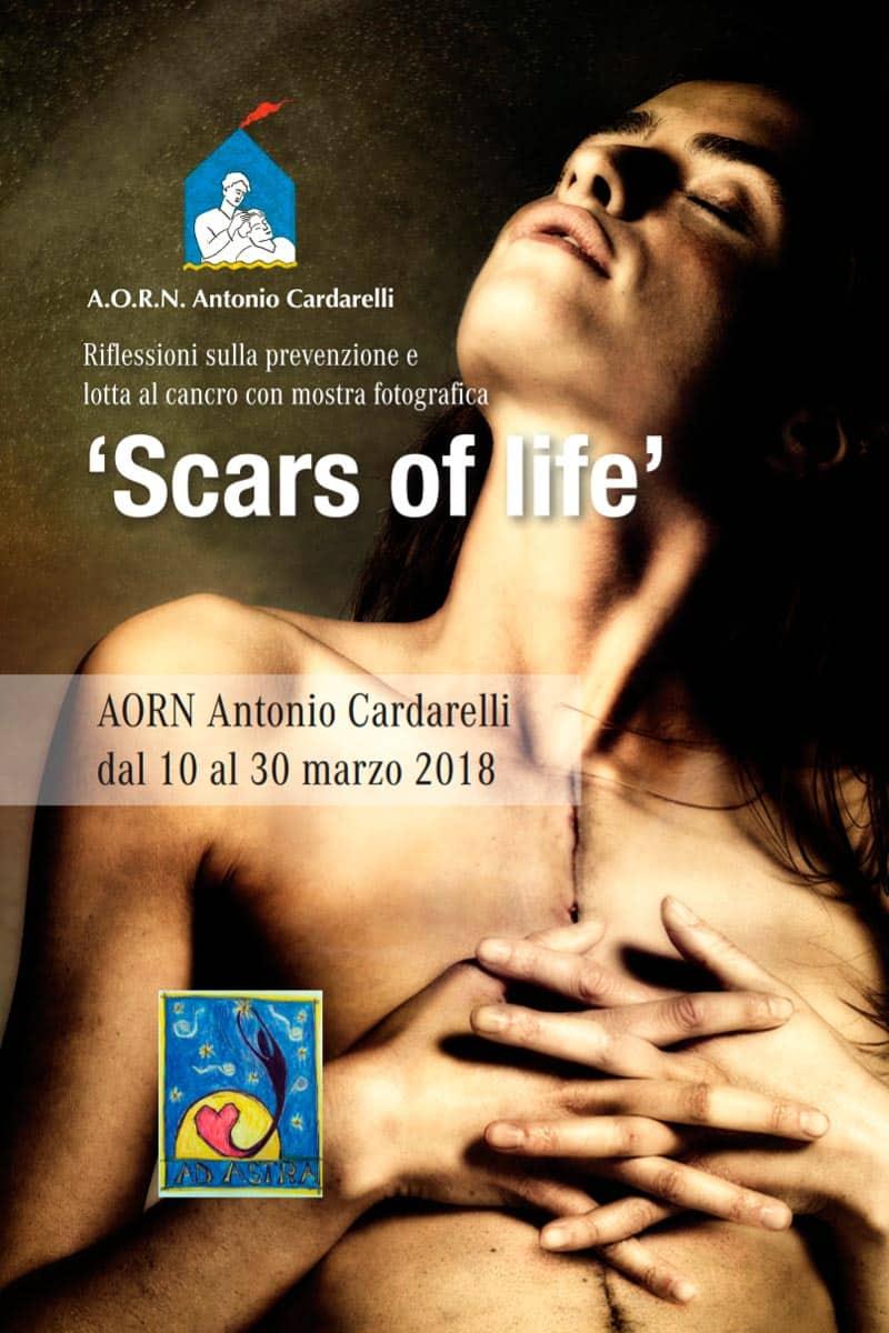 """Locandina della mostra fotografica """"Scars of life"""""""