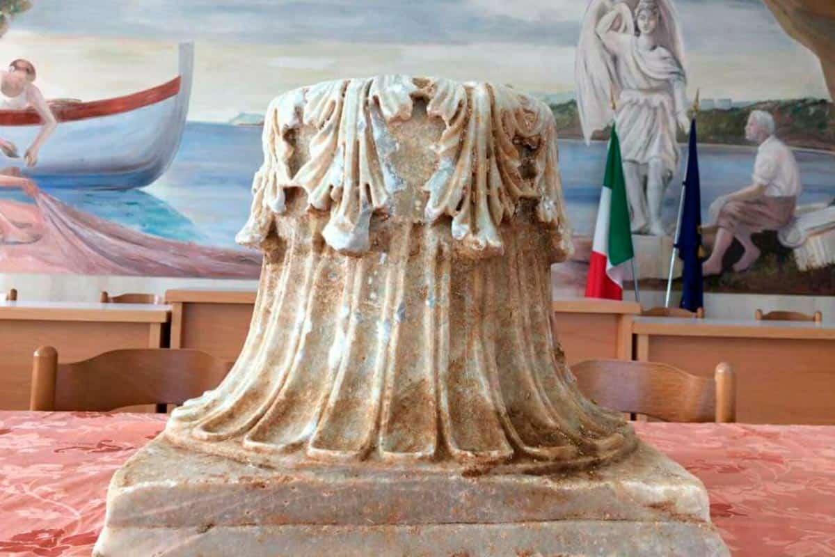 Capitello romano ritrovato a Sperlonga