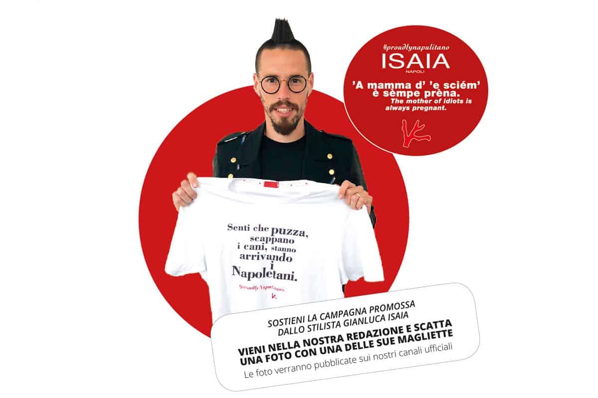 Marek Hamisik con la maglietta di Isaia
