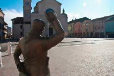 La piazza di Brescello, il paese di Peppone e Don Camillo