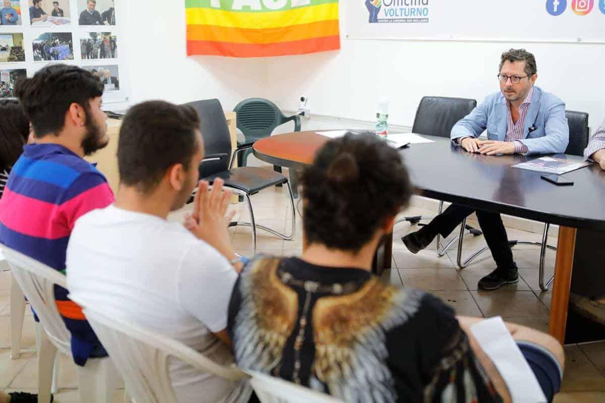 Francesco Emilio Borrelli - Alternanza Scuola Lavoro Liceo ISIS di Castel Volturno - Photo credit Gabriele Arenare