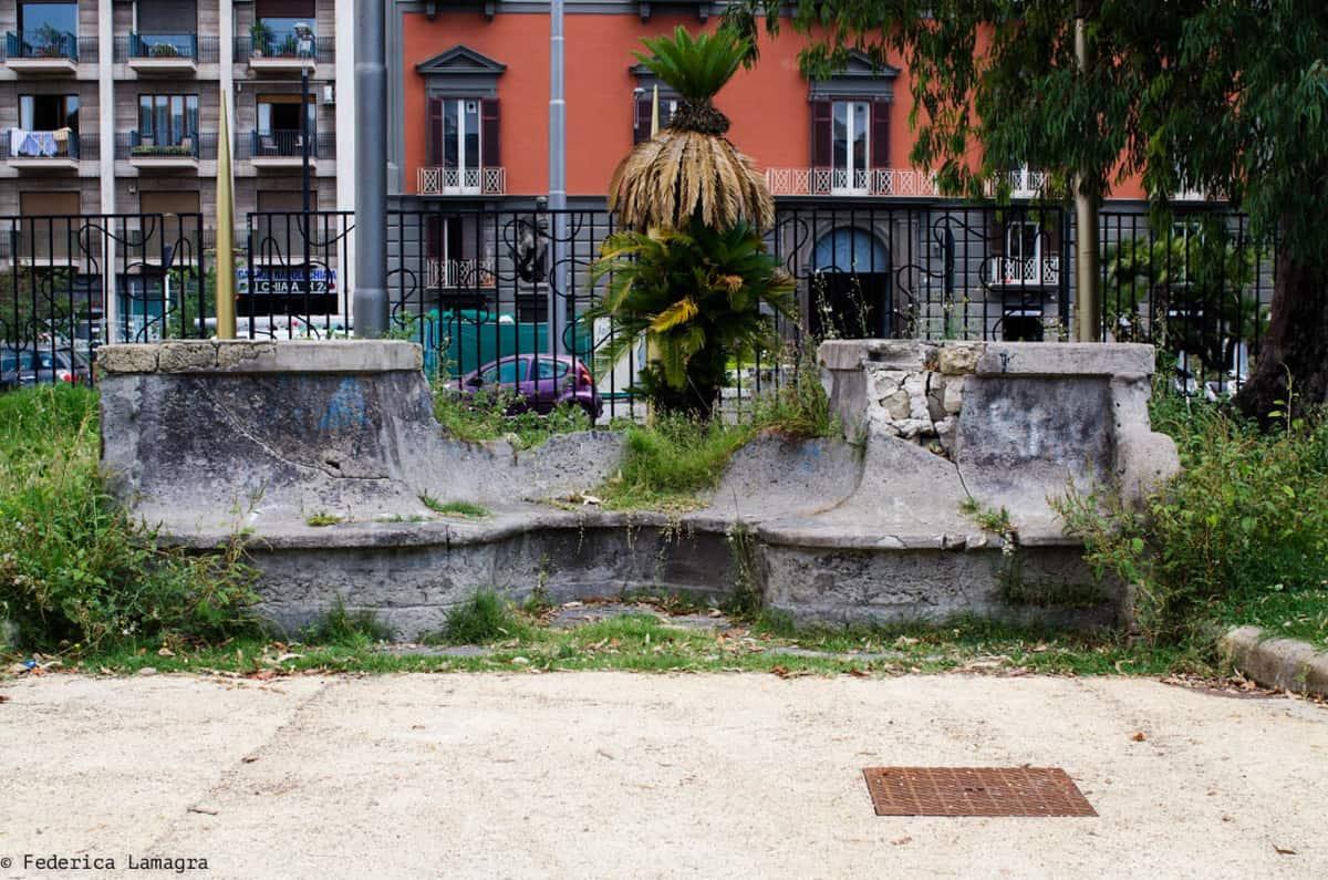 Degrado alla Villa Comunale di Napoli - Photo credit Federica Lamagra