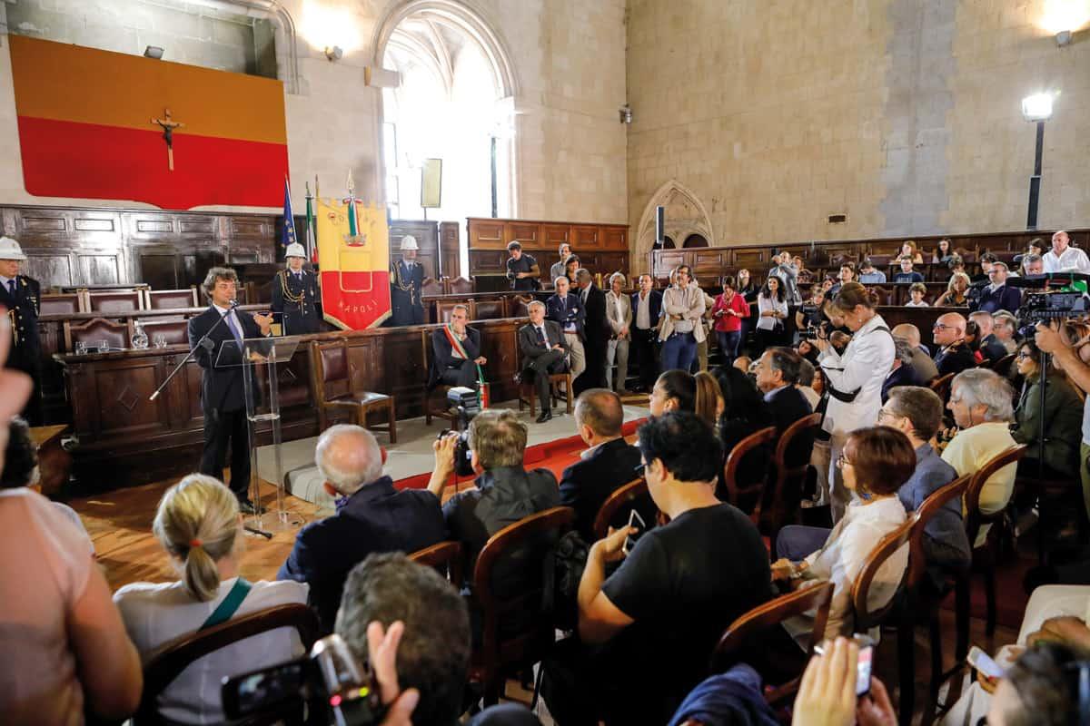 Alberto Angela cittadinanza onoraria Napoli - Photo credit Carmine Colurcio