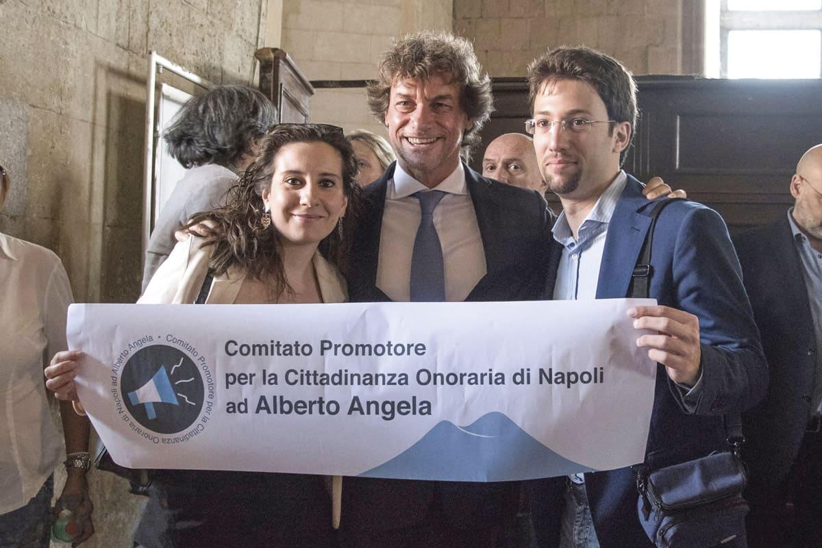 Comitato Promotore per la cittadinanza onoraria di Napoli ad Alberto Angela - Photo credit Fabiana Privitera