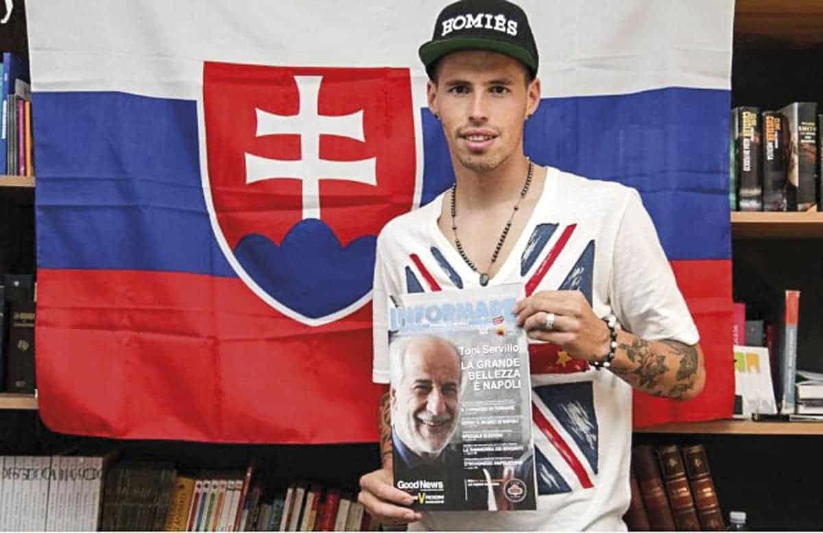 Marek Hamšík la prima volta nella redazione di Informare
